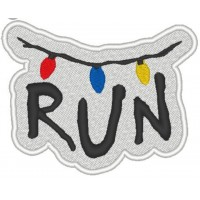 Embroidery patch STRANGER THINGS RUN 8cm x 8,5cm