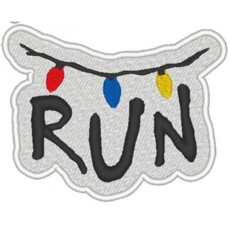 embroidery patch STRANGER THINGS RUN 8cm