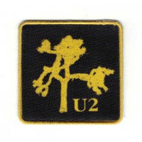 Textile and emmbroidery patch THE JOSHUA TREE U2 6cm x 6cm