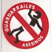 Parche bordado GUARDARRAILES ASESINOS GRANDE 19cm