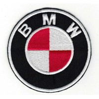 Embroidery patch RED BMW 6cm