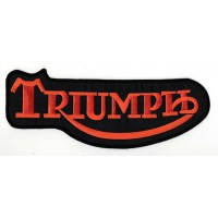 Embroidery patch TRIUMPH ORANGE CLASSIC 4cm x 1,6cm