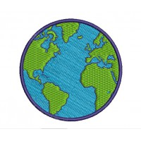 Patch embroidery GLOBE 17cm