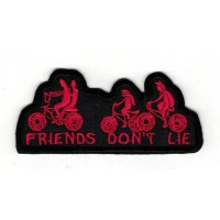 embroidery patch STRANGER THINGS FRIENDS DON´T LIE 9cm x 3,5cm