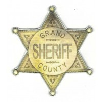 Embroidered and textil patch STAR SHERIFF COUNTY 7cm x 7.5cm