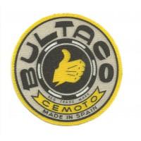 Textile patch BULTACO GRIS 7,5cm