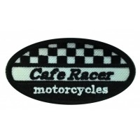 Embroidery patch CAFE RACE MOTORCYCLES 8cm x 4cm