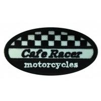 Parche bordado CAFE RACE MOTORCYCLES 8cm x 4cm