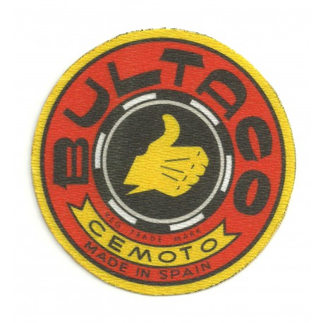 Parche textil BULTACO ROJO 7,5cm