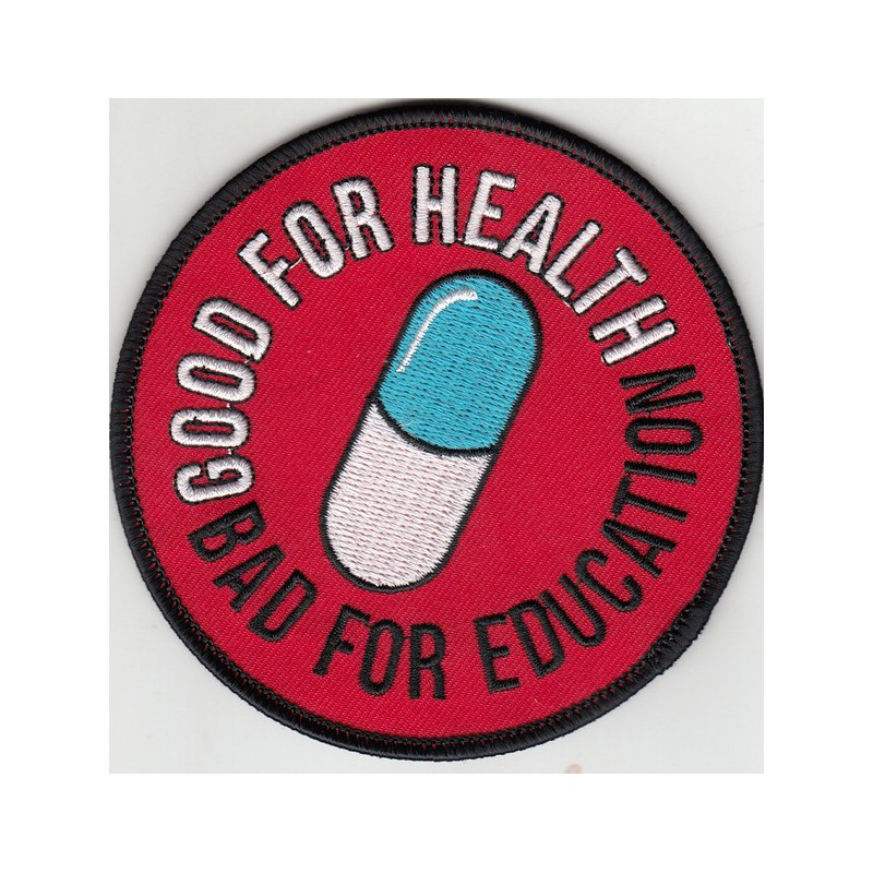 Titan One Europe Patch Set Akira Good for Health Bad for Education Pin