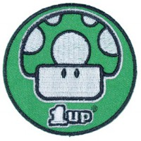 Embroidery patch MARIO BROS SETA 1 UP 9cm