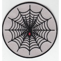 Embroidery patch BLACK WIDOW 8 cm