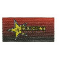 Parche textil ROCKSTAR ROJO 9cm x 4cm