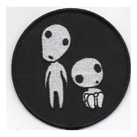 Embroidery patch.THE PRINCESS MONONOKE KODAMA 8cm