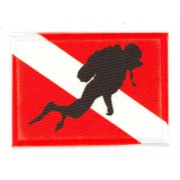 Embroidery and textile patch ALPHA MAN SUBMARINE FLAG 7cm x 5cm