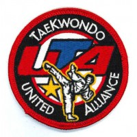 Embroidery patch TAEKWONDO UNITED ALLIANCE UTA 7,5cm