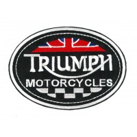 Embroidery patch TRIUMPH MOTORCYCLES 10cm x 3cm