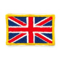 Embroidery patch FLAG ENGLAND YELLOW BORDER 4CM X 3 CM