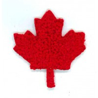 Embroidery patch LEAF CANADA CURLY 4,5cm x 5cm