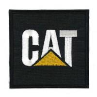 Embroidery patch CAT CATERPILLAR 7,5cm x 7,5cm
