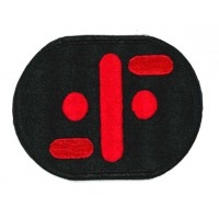 embroidery patch V red 8cm