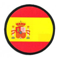 Embroidered patch and textile FLAG SPAIN ROUND 7cm