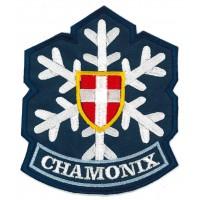 Parche bordado CHAMONIX MONT-BLANC rojo 8,5cm x 4cm
