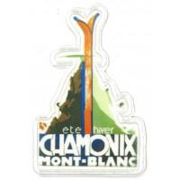 Parche textil y bordado ESCUDO CHAMONIX MONT- BLANC 5cm X 5,5cm
