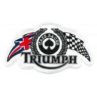 Parche bordado CAFE RACE TRIUMPH 12cm x 7cm