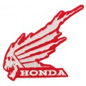 Embroidery Patch SKULL HONDA RED 10cm x 10cm