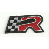 "Parche bordado SEAT ""R"" ROJA 7cm x 3cm"