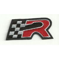 """Patch embroidery SEAT """"R"""" ROJA 7cm x 3cm"""