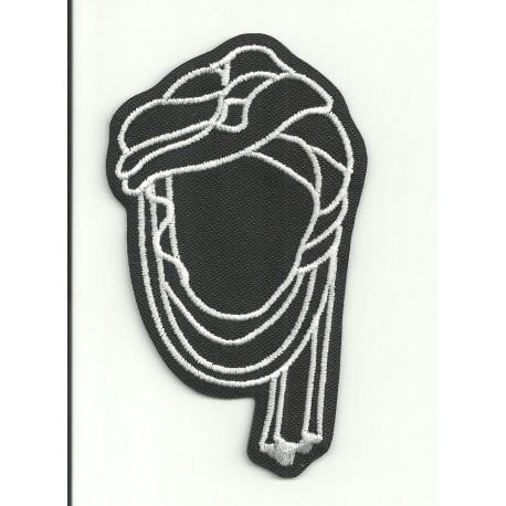Parche bordado TUAREG NEGRO 5cm x 9cm