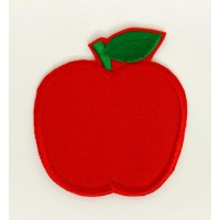 Embroidered patch APPLE 2,8cm x 3,2cm