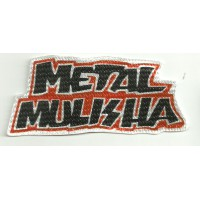 Textile patch METAL MULISHA 10,5cm x 4,2cm