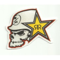 Textile patch ROCKSTAR METAL MULISHA 8,5cm x 6cm