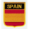 Patch embroidery SHIELD FLAG SPAIN 3cm x 3,5cm
