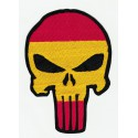 embroidered patch THE PUNISHER SPAIN FLAG 2,5cm x 3,5cm