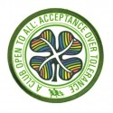 Embroidery and textile patch CELTICS A CLUB OPEN TO ALL 8cm 1888 8cm