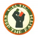 Embroidery and textile patch KEEP THE FAITH CELTIC 8cm
