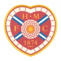 Embroidery and textile patch HEART OF MIDLOTHIAN F.C 8,5cm x 8,5cm