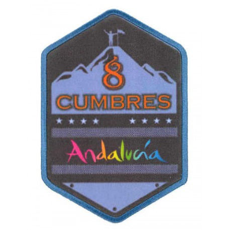 Embroidery and textile patch 8 SUMMITS ANDALUCIA 8cm x 12cm