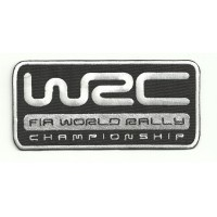 Patch embroidery WRC FIA WORLD RALLY 12,5cm x 6cm