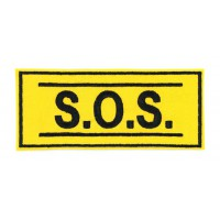 Embroidered patch S.O.S 12cm x 5cm