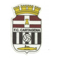 Textile patch F.C. CARTAGENA 2,5cm x 4cm
