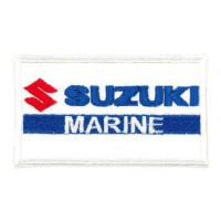 Embroidered patch SUZUKI MARINE 8cm x 4cm