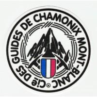 Embroidery and textile patch GUIDES DE CHAMONIX MONT BLANC 3,7cm