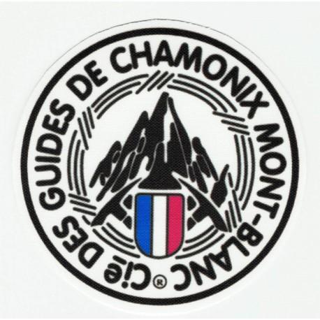 textile Patch GUIDES DE CHAMONIX MONT-BLANC 7,5cm