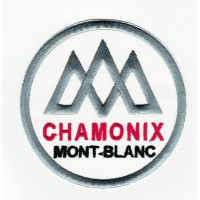 embroidered patch CHAMONIX MONT-BLANC 3,7cm