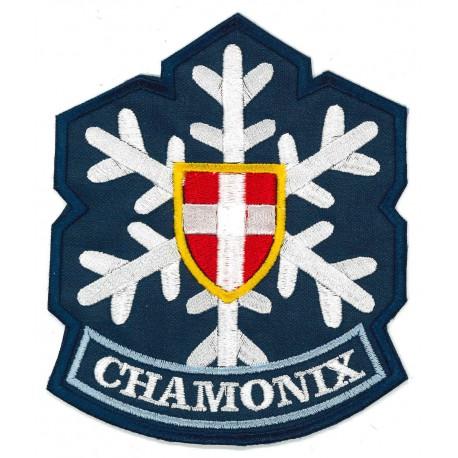 Embroidery patch CHAMONIX MONT-BLANC red 8,5cm x 4cm